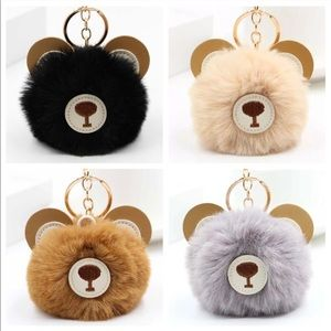 Accessories - Teddy Bear Pom Pom Keychain